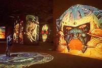 Une exposition consacrée à Philippe Druillet en juin 2000 aux Baux de Provence. ©GERARD JULIEN