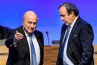Sepp Blatter, président démissionnaire de la Fifa, doit être entendu sur le paiement controversé de 1,8 million d'euros à Michel Platini, en 2011, pour un travail de conseiller de l'actuel président de l'UEFA effectué entre 1999 et 2002. ©FABRICE COFFRINI