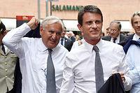 L'ancien Premier ministre UMP Jean-Pierre Raffarin et l'actuel Premier ministre socialiste Manuel Valls ont opéré un rapprochement (illustration). ©PASCAL PAVANI