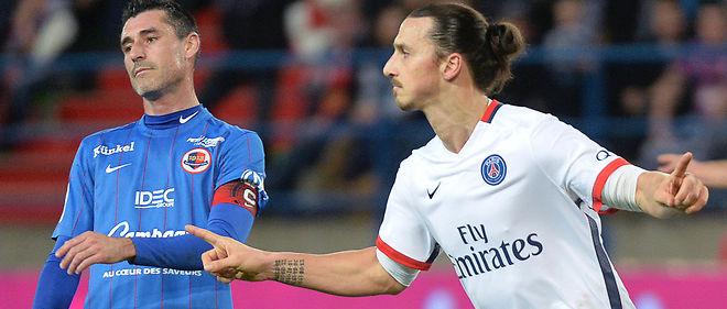 Ibrahimovic a marqué face à Caen son 15e but de la saison en Ligue 1.