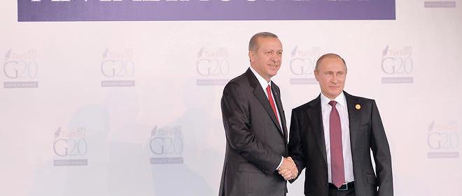 Les relations se sont récemment tendues, sur le terrain syrien, entre le président turc et son homologue russe.