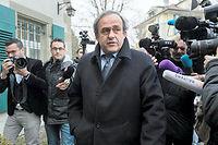 Le président de l'UEFA, Michel Platini, est suspendu temporairement jusqu'au 5 janvier. ©FABRICE COFFRINI
