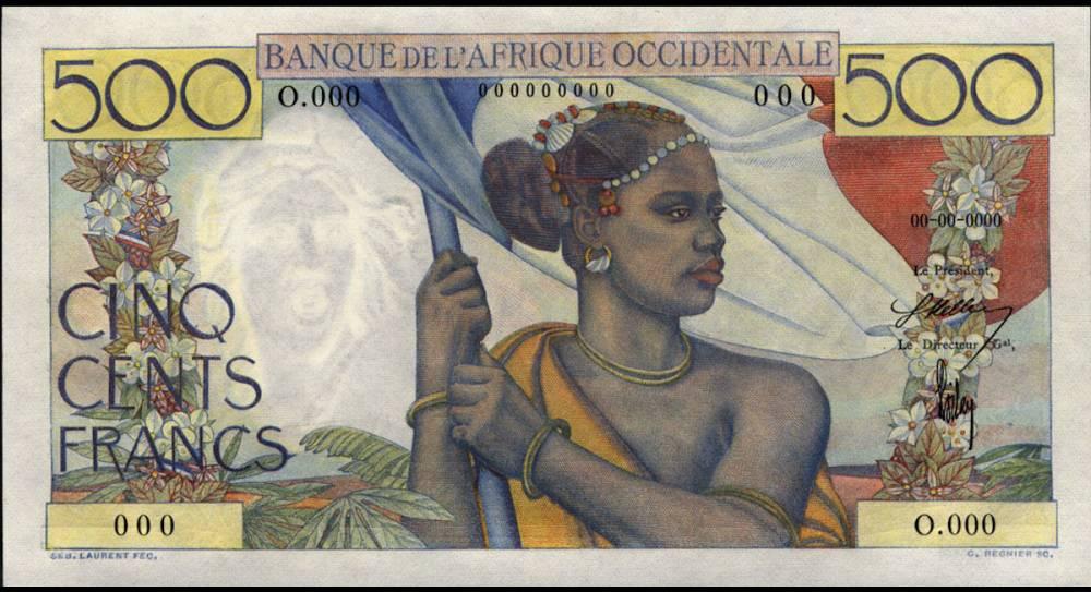 Billet de 500 francs CFA antérieur à la création de la BCEAO  ©  DR
