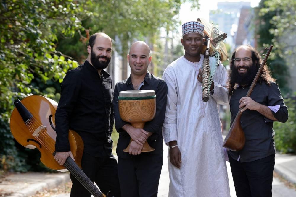 Ablaye Cissoko et le trio iranien Constantinople. ©  Michael Slobodian