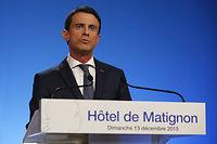 Lors d'une courte allocution le 13 décembre au soir, Manuel Valls a suggéré que droite et gauche aient des actions communes. ©THOMAS SAMSON