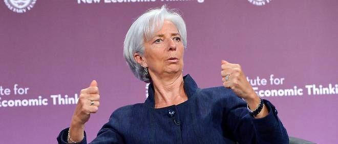 """La croissance économique sera """"décevante et inégale"""" en 2016, a prévenu  dans une tribune publiée en Allemagne la directrice générale du FMI  Christine Lagarde."""