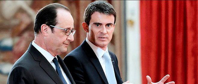François Hollande et Manuel Valls, photo d'illustration.