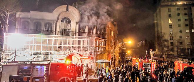 L'ambassade saoudienne de Téhéran a été prise pour cible.