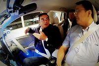Sans les mains ! Carlos Ghosn est un fervent avocat de la voiture autonome, une technologie que l'alliance Renault Nissan déclinera progressivement sur plus de 10 modèles d'ici à 2020. ©Nissan