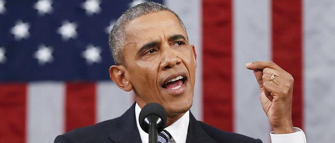 """""""Ceux qui prétendent que l'Amérique est en déclin sont en pleine fiction"""", a clamé Barack Obama pendant son dernier discours sur l'état de l'Union."""