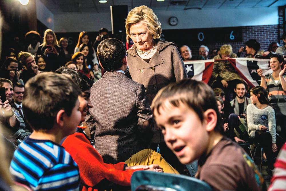 Candidate de «tous les Américains». © Mark PETERSON/REDUX-REA