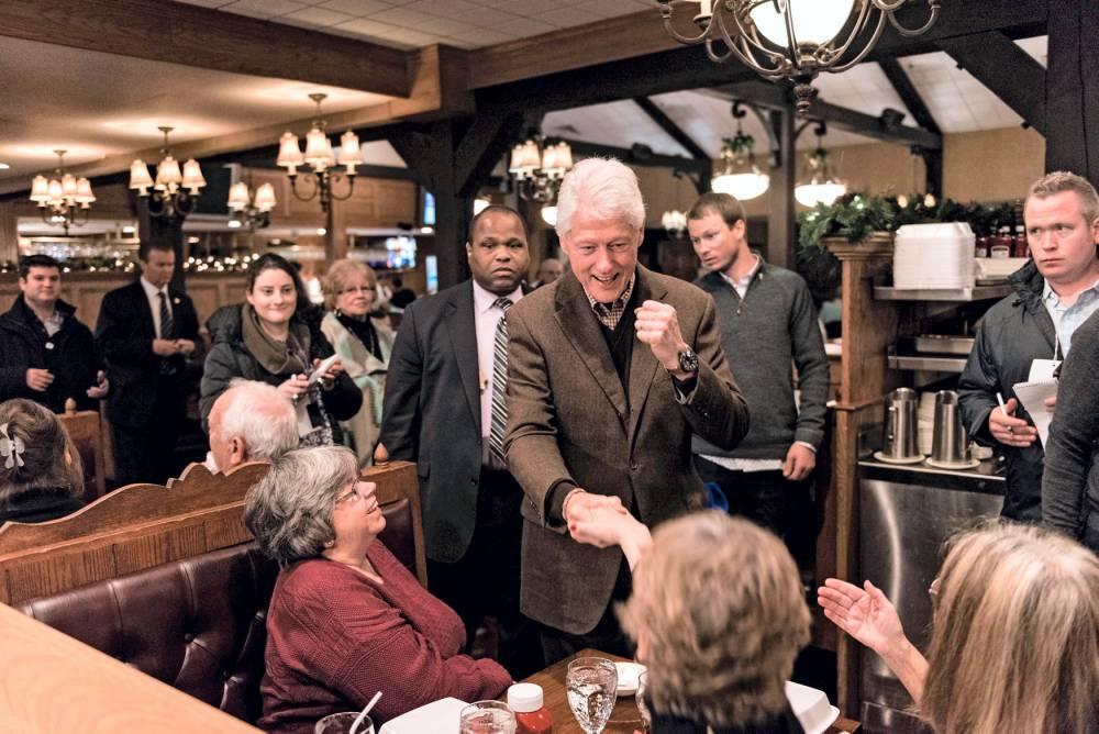 Bill Clinton en campagne pour soutenir Hillary. © IAN THOMAS JANSEN-LONNQUIST/The New York Times-REDUX-REA