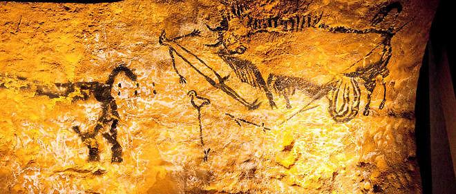 Reconstitution d'une peinture de Lascaux, photo d'illustration.