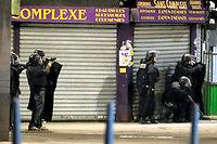 L'intervention de la policele 18 novembre à Saint-Denis. ©KENZO TRIBOUILLARD
