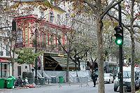 Le Bataclan, après les attentats de Paris du 13 novembre 2015. ©JACQUES DEMARTHON