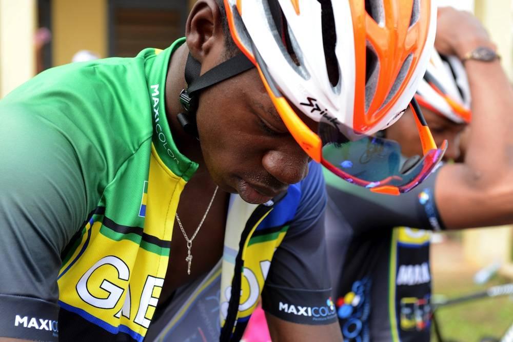 Un membre de l'équipe nationale du Gabon, les Panthères. ©  Xavier BOURGOIS