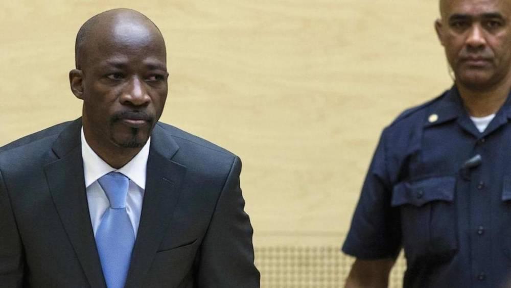 Charles Ble Goude, proche de l'ancien président Laurent Gbagbo, devant la CPI, le 27 mars 2014. ©  AFP/Michale Kooren