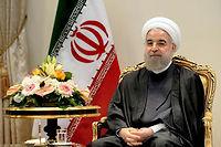 Le président iranien Hassan Rohani arrive en France pour sa première visite officielle. ©DIRK WAEM