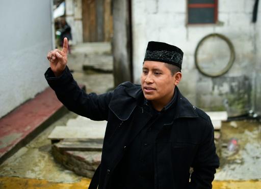 L'imam mexicain, Ibrahim Chechev donne une interview dans une mosquée à San Cristobal de Las Casas, dans l'Etat du Chiapas au Mexique, le 22 janvier 2016 © RONALDO SCHEMIDT AFP/Archives