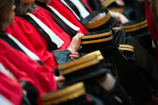 Des magistrats lors d'une cérémonie des voeux. Depuis une vingtaine d'années, les missions dévolues aux parquets ont connu une véritable inflation © BERTRAND LANGLOIS AFP/Archives