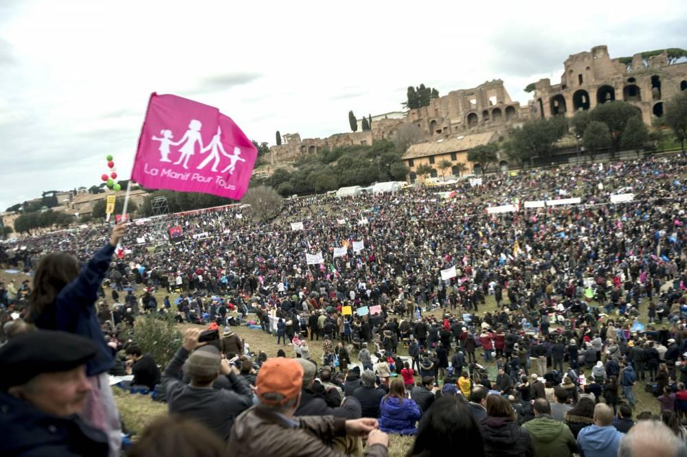 Family day in Rome © Antonio Masiello AFP