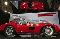 La Ferrari 335 S Spider Scagliett a tout de même atteint des sommets même si elle n'a pas battu le record absolu des enchères. ©JACQUES DEMARTHON