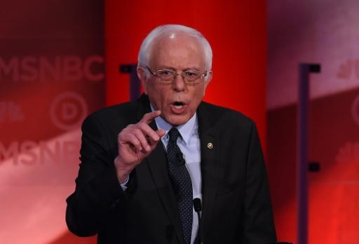 Le candidat démocrate à la présidentiel Bernie Sanders, le 4 février 2016 à Durham, dans le New Hampshire © Jewel Samad AFP