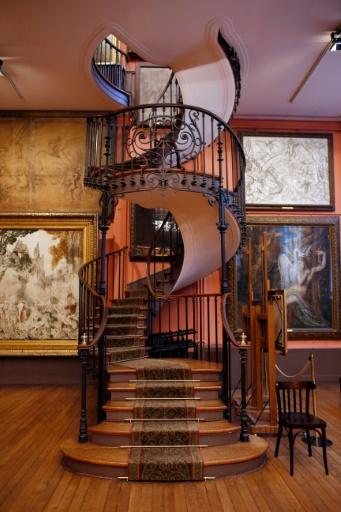 Le célèbre escalier à vis du musée Gustave Moreau à Paris, le 21 janvier 2015 © THOMAS SAMSON AFP/Archives