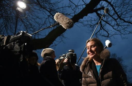 La cheffe de la diplomatie européenne, Federica Mogherini, à Amsterdam le 6 février 2016 © EMMANUEL DUNAND AFP
