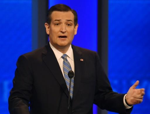 Le candidat républicain à la Maison Blanche Ted Cruz lors d'un débat à Manchester, dans le New Hampshire, le 6 février 2016 © Jewel Samad AFP