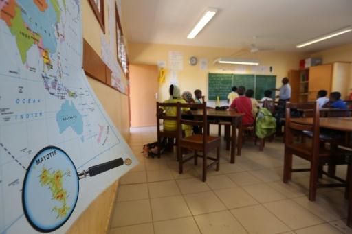 Une salle de classe à Sada, le 26 mars 2013 à Mayotte © RICHARD BOUHET AFP/Archives