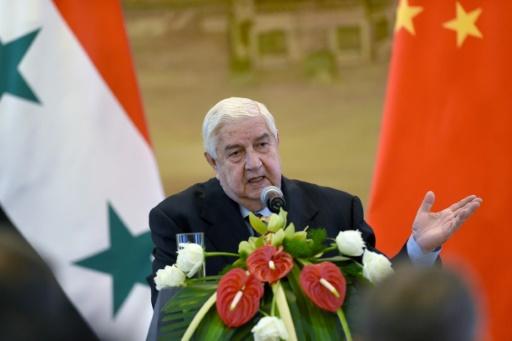 Le ministre syrien des Affaires étrangères Walid Mouallem le 24 décembre 2015 à Pékin © WANG ZHAO AFP