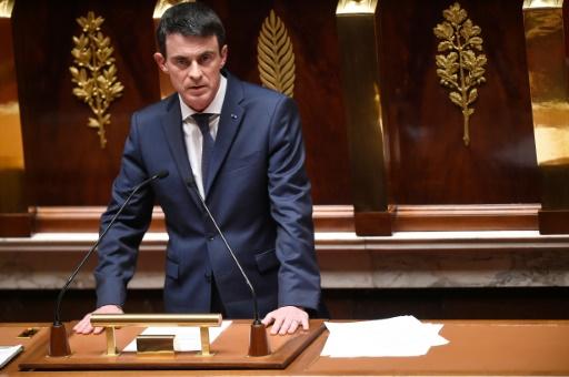 Le Premier ministre Manuel Valls lors du débat sur la révision constitutionnelle, le 5 février 2016 à l'Assemblée nationale à Paris © LIONEL BONAVENTURE AFP