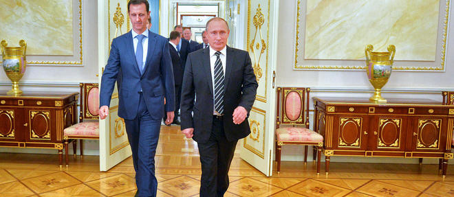 Poutine a engagé des moyens considérables pour sauver le régime de Bachar el-Assad. Objectif : éviter l'effondrement de l'État syrien. ©ALEXEY DRUZHININ