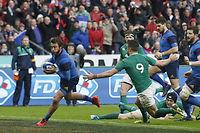 Maxime Médard et les Français ont réussi le coup parfait face aux Irlandais. ©Thomas SANSON