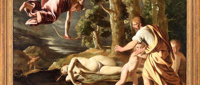 """""""La mort de Chioné"""" estl'une des rares œuvres de jeunesse de Nicolas Poussin. Elle a été acquise par le musée des Beaux-Arts de Lyon."""