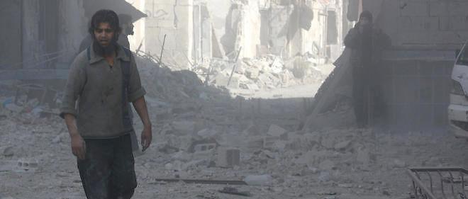 Le 16 février à Damas, dans le quartier de la Ghouta frappé par les bombes du régime.