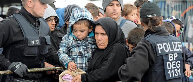 Des migrants en Allemagne, photo d'illustration.