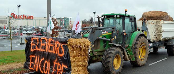 Des éleveurs en colère, photo d'illustration.