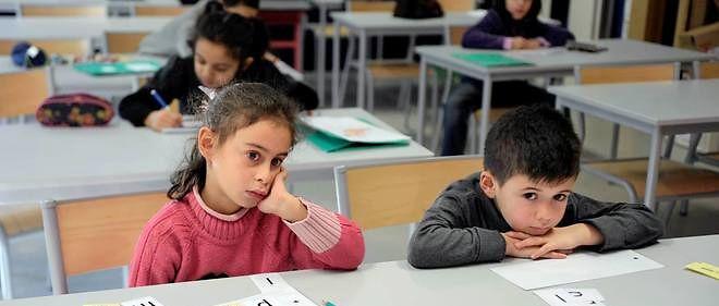Des écoliers du cours préparatoire (image d'illustration)