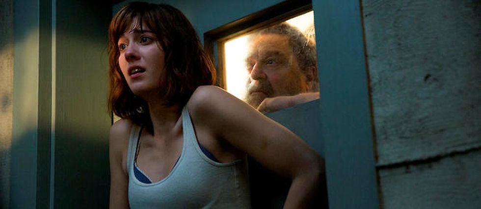 "Mary Elizabeth Winstead et John Goodman dans le thriller psychologique ""10 Cloverfield Lane""."