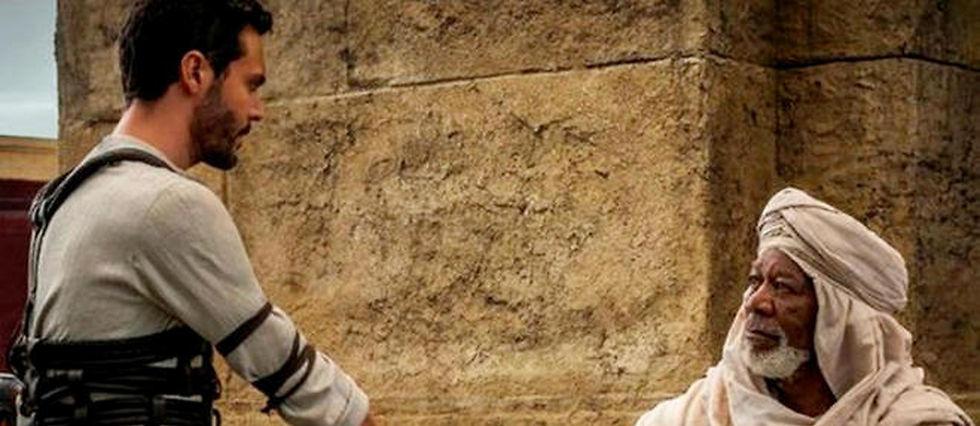 "Jack Huston et Morgan Freeman dans le reboot de ""Ben-Hur""."