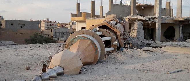 Une frappe à Raqqa, fief de Daech en Syrie, le 25 novembre.