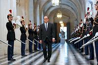 François Hollande peu avant son allocution devant le Congrès, en novembre dernier, trois jours après les attentats de Paris. ©MICHEL EULER
