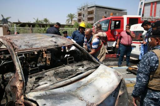L'attaque la plus meurtrière a eu lieu dans la ville méridionale de Bassora où un kamikaze s'est fait exploser sur une rue tuant cinq personnes et en blessant cinq autres © HAIDAR MOHAMMED ALI AFP