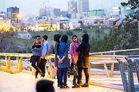 Vent nouveau. Le pont Tabiat, à Téhéran, lieu emblématique de la capitale iranienne.