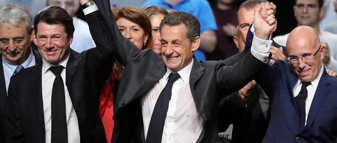 Nicolas Sarkozy le 15 novembre 2016. Pour Jean-Marie Le Pen, l'ancien président est«un animal politique redoutable. Il est pire que le lapin Duracell. Lui, si on lui enlève les piles, il marche encore!»