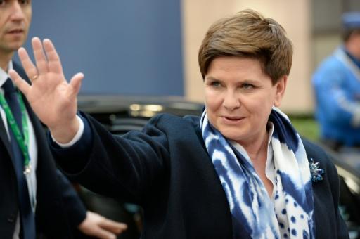 Beata Szydlo, Première ministre polonaise, à Bruxelles le 17 mars 2016 © THIERRY CHARLIER AFP/Archives