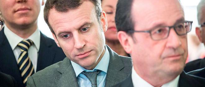 Emmanuel Macron, ministre de l'Économie, François Hollande, président de la République : entre eux, la guerre est déclarée !