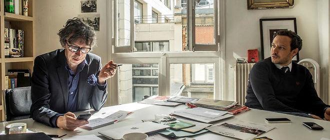 Trublions. Gabriel Gaultier, PDG etdirecteur de création del'agence Jésus etGabriel, et Adrien Taquet, directeur général, dans leurs locaux, rue Saint-Georges, à Paris.